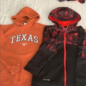 Lot of 2 boys long sleeved hoodies size 10/12 L